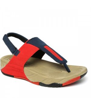 Paragon WOMEN'S RED & NAVY BLUE SOLEA PLUS SANDALS