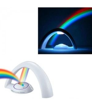 Kawachi Romantic Colourful LED Projector Lucky Rainbow Light Small Night Light