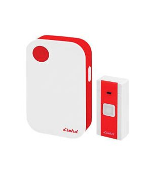 Kawachi Wireless Doorbell Remote Control Doorbell with 32 Tune Melodies-Red