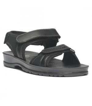 Paragon BOYS BLACK P-TOES CASUAL SANDALS