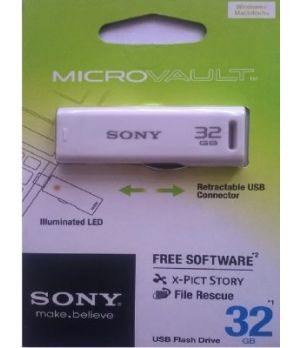 Sony USM32GR/WZ IN 31300489 32 GB Utility Pendrive(White)